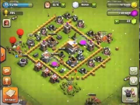 Best Town Hall Level 5 Defense Setup- Clash of Clans - YouTube