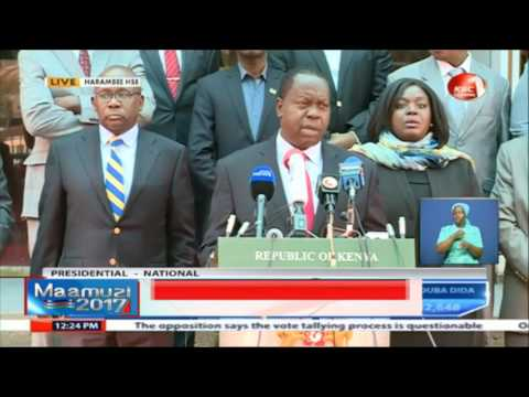 Interior acting CS Fred Matiang'i's brief on the state of security - #ElectionsKE