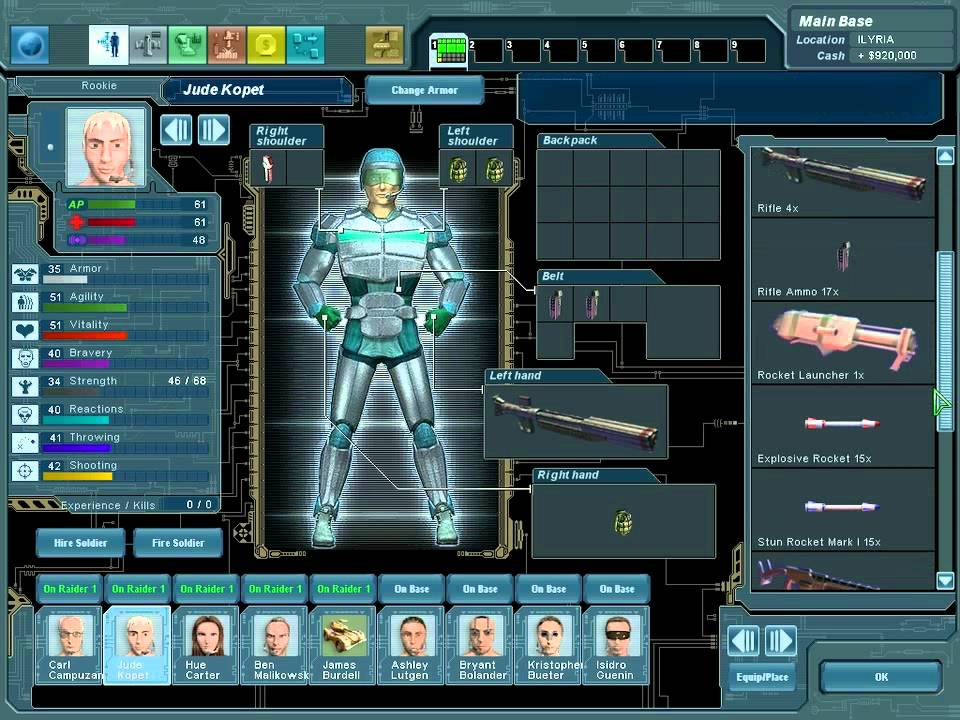 Xenonauts is a strategy game in which you control a multinational military organisation defending a Cold Warera Earth from alien invasion using small squads of persistent soldiers to eliminate the extraterrestrials and recover their technology in turnbased ground combat