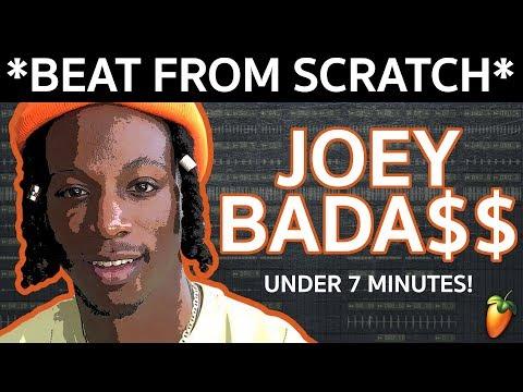 *BEAT FROM SCRATCH* Joey Bada$$ Chill Boom Bap Type Instrumental (FL Studio Tutorial)