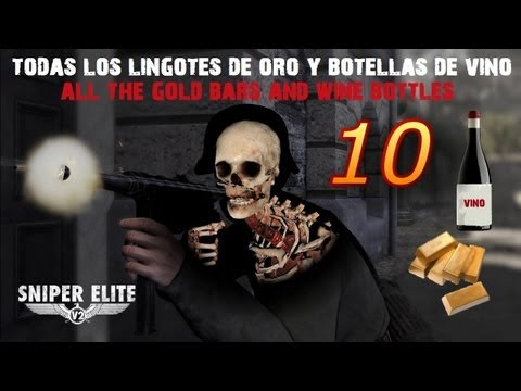 Sniper Elite V2 Guía - Sniper Elite V2 Capitulo 10 Guía coleccionables/Guide Collectibles Lingotes de oro/botellas de vino