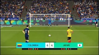 COLOMBIA vs JAPAN | Penalty Shootout | PES 2018 Gameplay PC