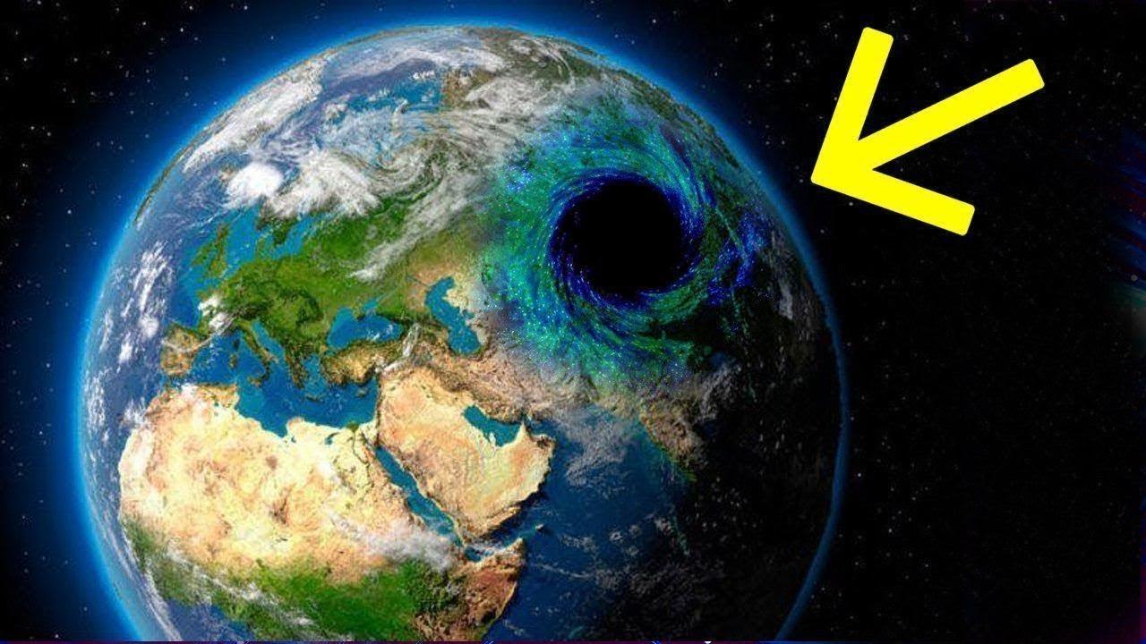 عثور العلماء علي ثقب أسود يلتهم داخل الارض !!