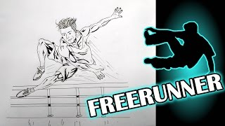 How To Draw A Freerunner/parkour/speed painting [incredible sketches]