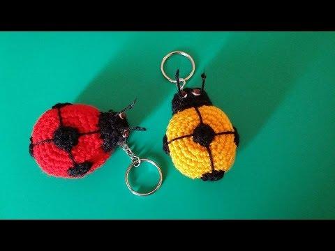 Crochet porte cl s coccinelle youtube - Porte cle crochet ...