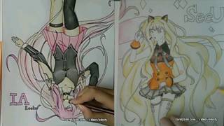 Drawing Vocaloid - IA Rocks & SeeU (Requested)