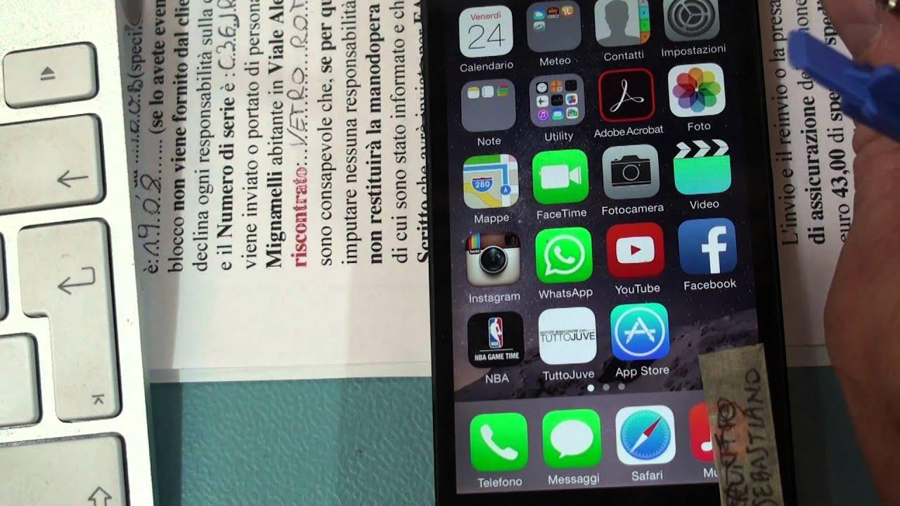 tasto power iphone 6 Plus non funzionante