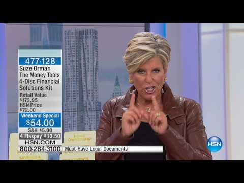 HSN | Suze Orman Financial Freedom Hour 09.11.2016 - 01 PM