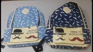 Рюкзак Джентльмен Усы. Обзор городского рюкзака(Молодежный рюкзак с принтом усов очень удобный и практичный в использовании. Рюкзак выполнен из холста,..., 2015-10-22T12:19:42.000Z)