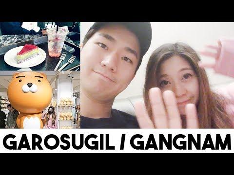 KOREA VLOG: Garosugil Shopping & Cafes! (Skinfood Cafe, Gentle Monster, Mr. Holmes Bakehouse)