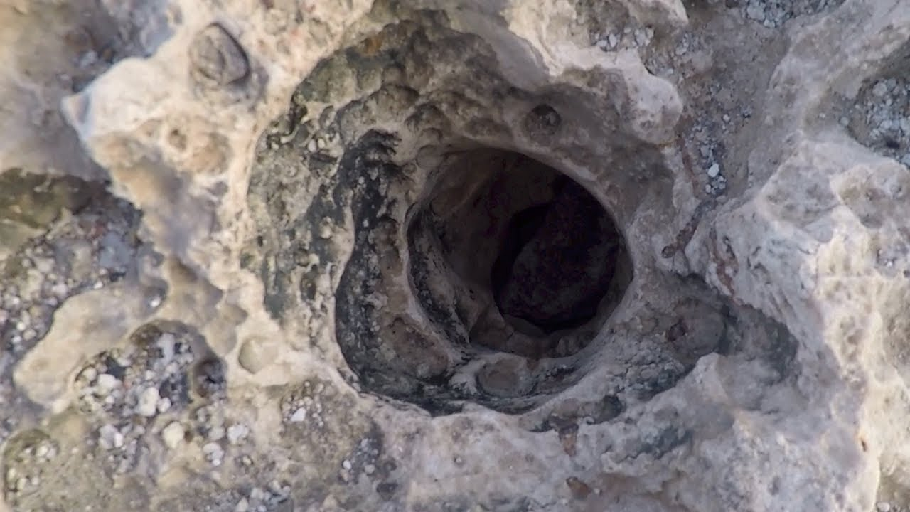 Strange and mysterious sounds coming from a hole