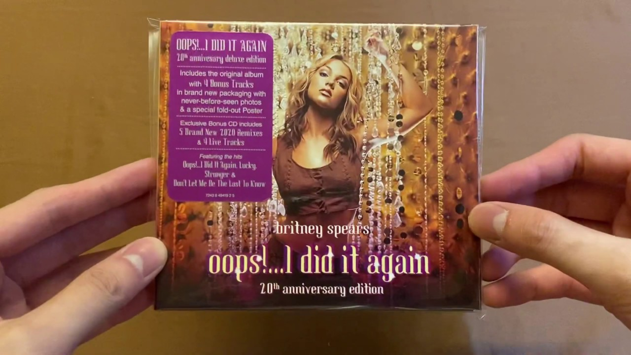 Unboxing Britney Spears Oops I Did It Again 20th Anniversary Deluxe Edition Youtube