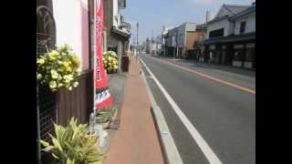 筑後吉井の白壁通り  Yoshii historical quarter