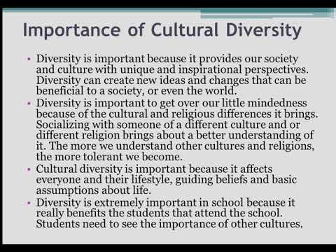 Important Of Culture