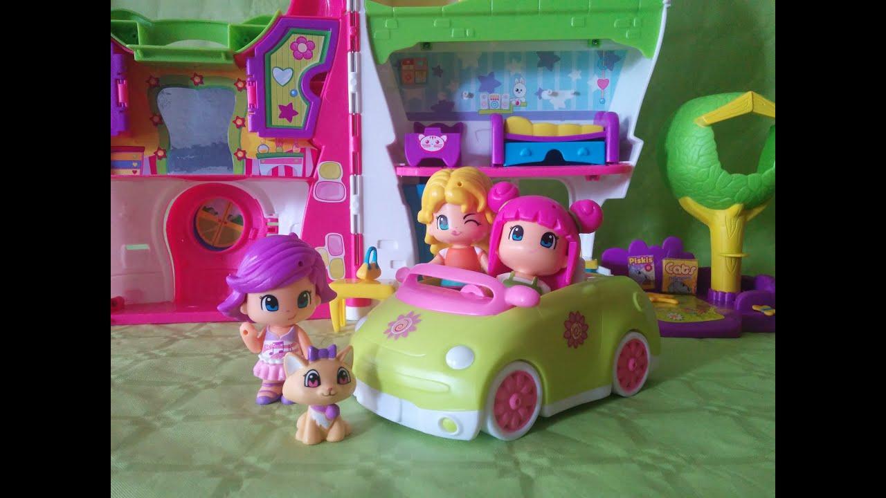 La casa de pinypon y coche de paseo house of pinypon for Casas de juguete para jardin
