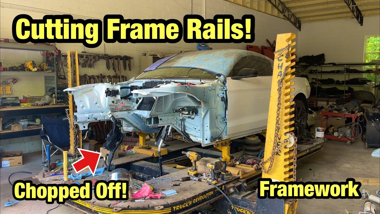 Rebuilding A Totaled Wrecked 2020 Ford Mustang Shelby GT500 From Salvage Auction Part 12 Framework