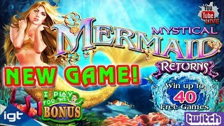 🔴 MYSTICAL MERMAID RETURNS ★ NEW GAME AT THE SLOT MUSEUM ★ LATE NIGHT LIVE CHAT