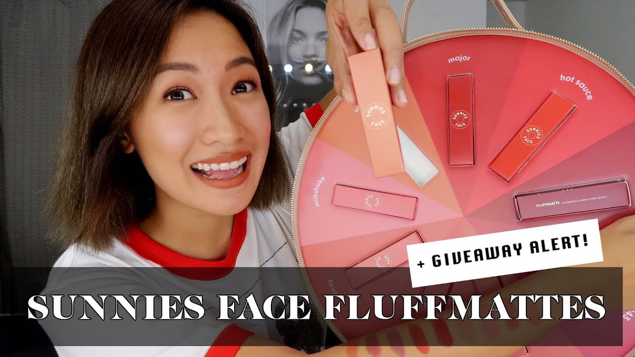 Sunnies Face Fluffmatte Swatches & Review + Giveaway! | Laureen Uy