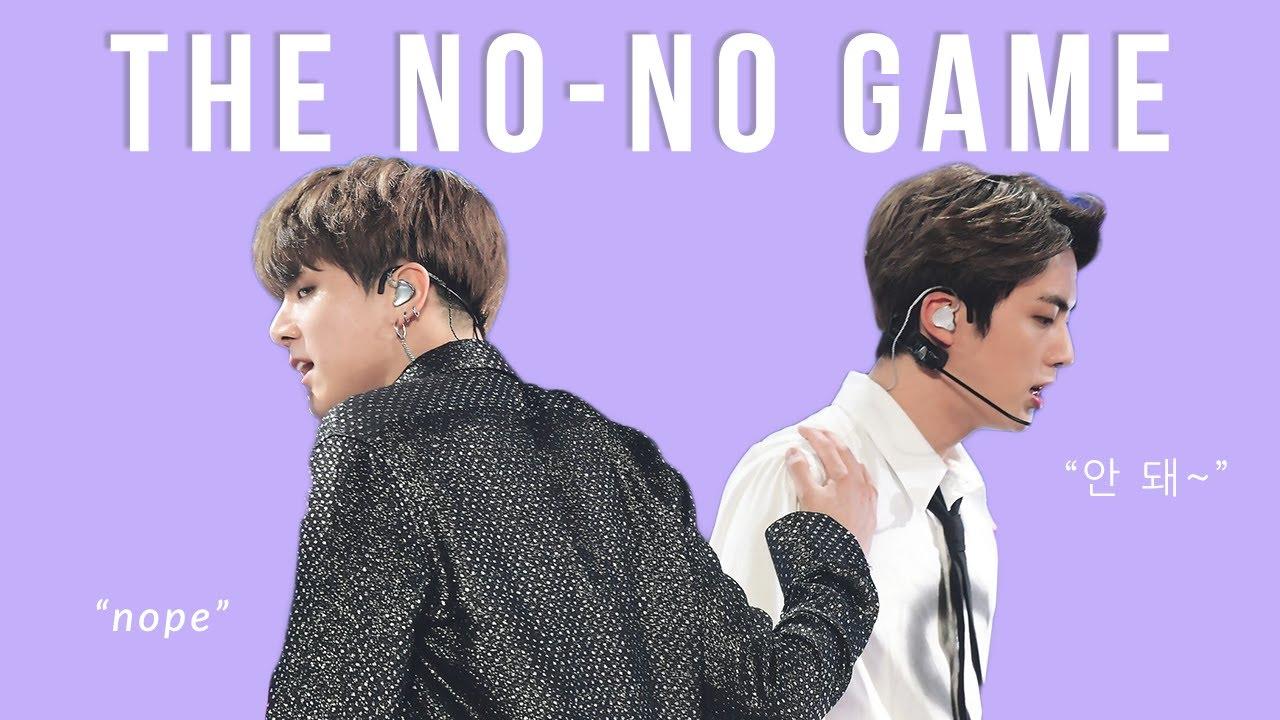 jinkook's no-no game | 맏내와막내의 노노 게임 [방탄소년단/BTS]