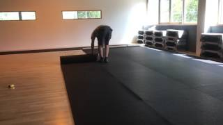 Rubber vloer matten plaatsen Rubberdeal.com