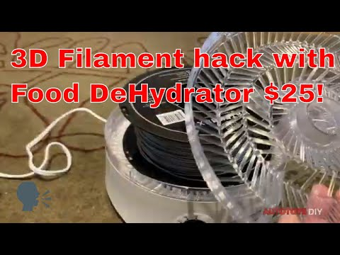 3d Filament Dehydrator - How to easily set one up for around $25~ Print Dry your Filament!
