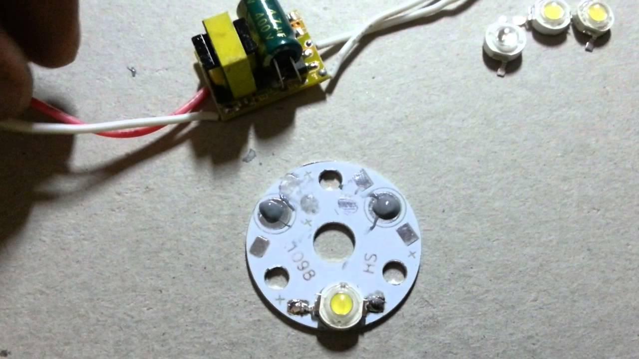 How to make led bulbs at home
