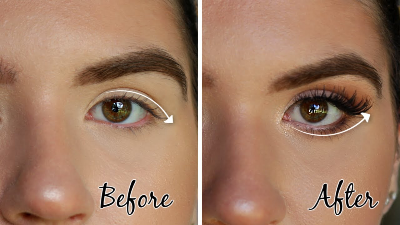 HOW TO: Lift Droopy Eyes  Ultimate Makeup Guide for HOODED DOWNTURNED Eyes
