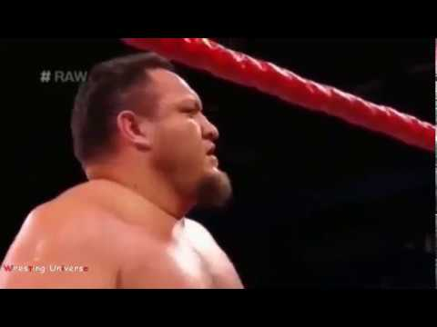 WWE RAW ROMAN REIGNS VS SAMOA JOE INTERCONTINENTAL CHAMPIONSHIP MATCH thumbnail