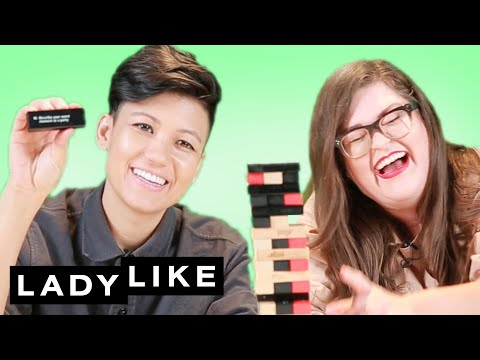 Kristin and Jen Play Truth Or Dare Jenga