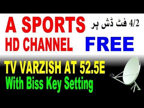A sports hd channel with biss key setting at 52 5e Ku band satellite
