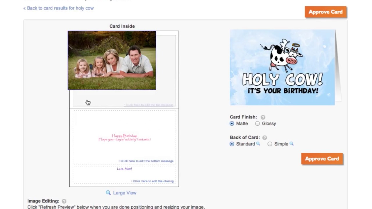 Greeting Card Universe Personalization Tutorial Video Youtube