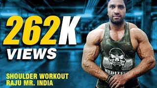 Gambar cover Shoulder Workout Raju Mr India | Bodybuilding | FitnessGuru | Workout Tips