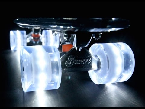 COOLEST Skateboard Wheels EVER! (Flare Cruiser LED Wheels by Sunset Skateboards)