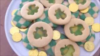 St. Patrick's Day Treats! {checkerboard Cookies, Shamrock Cookies & Shake}