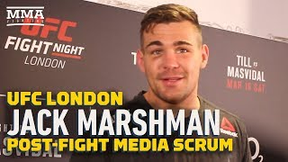 Jack Marshman Says He Packed His Bags And Ran From British Army To Fight At UFC London