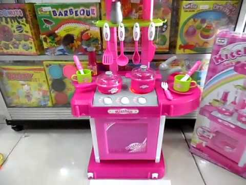Mainan Masak Masakan Kitchen Set Koper Pink Youtube
