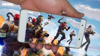 OFFICIAL FORTNITE 😱 PLAYED ON A LG K10 2017 IN EPIC QUALITY USING VORTEX HACKED?