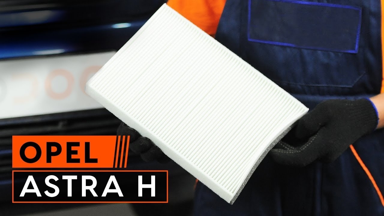 How to replace pollen filter on OPEL ASTRA H TUTORIAL | AUTODOC - YouTube