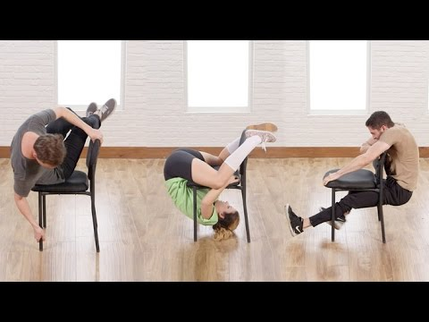 Average People Try the Impossible Chair Challenge | Class FitSugar