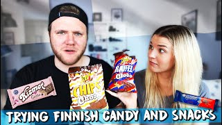 TRYING FINNISH CANDY AND SNACKS