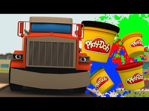 NEW PLAY DOH HOUSE HAPPY STORY WITH TALKING TRUCK (FUNNY)