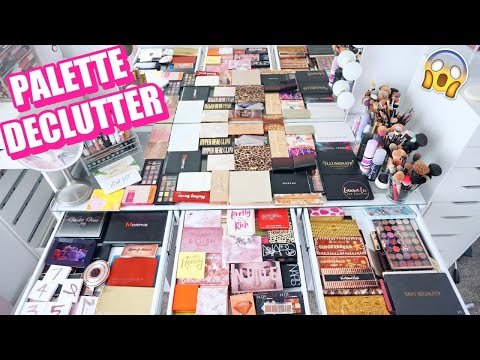 BEAUTY ROOM DECLUTTER | MY PALETTE COLLECTION 2020