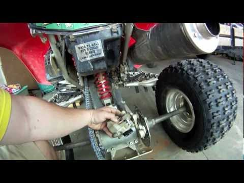 Replacing rear brake pads on an atv  YouTube