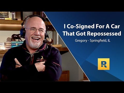 I Co-Signed For A Car That Got Repossessed!