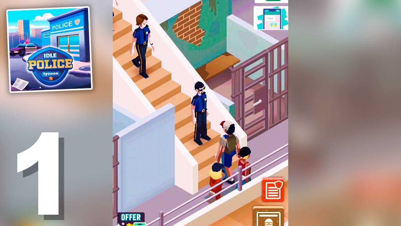 Idle Police Tycoon (by Codigames) Gameplay Walkthrough ...