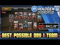 MADDEN NFL OVERDRIVE BEST POSSIBLE DAY 1 TEAM (89 OVR OVERDRIVE TEAM GAMEPLAY)
