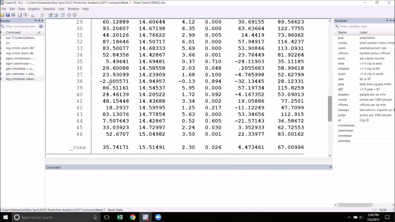 Fixed Effects in Stata
