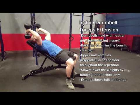 Incline Dumbbell Triceps Extension