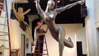 lighted wire sculpture studio movie
