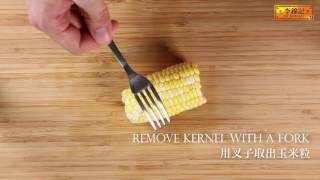 "Lee Kum Kee - Tips and Tricks on ""How To Remove Corn Kernel From The Cob"""